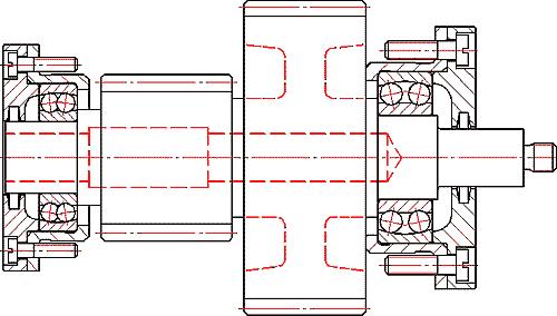 Вал-шестерня, спроектированная в AutoCAD