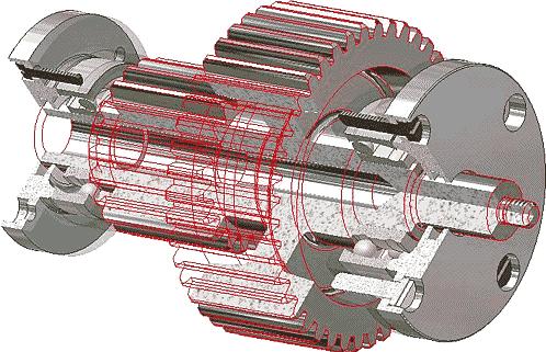 Результат размещения группы в Autodesk Inventor