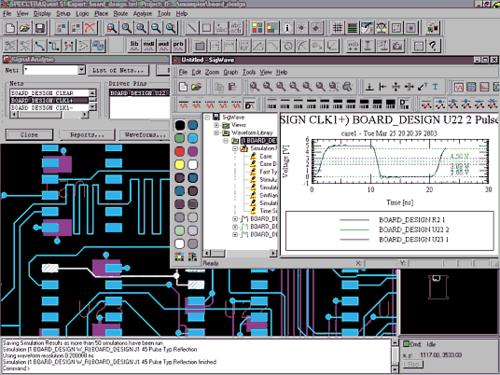 Наращивание ресурсов SPECCTRAQuest позволит гарантировать целостность сигнала. Это делает PCB Design Studio полнофункциональным средством проектирования высокоскоростных ПП