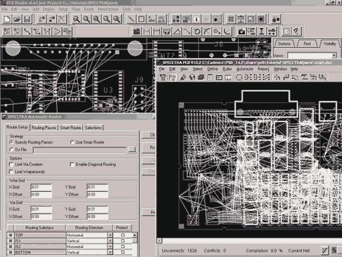 Полная интеграция автотрассировщика SPECCTRA и Allegro PCB создает уникальную среду проектирования печатных плат