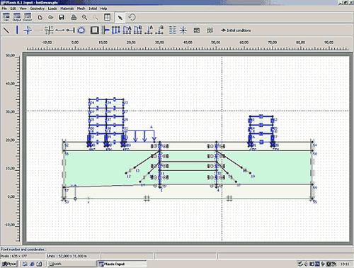 Рис. 1. Расчетная схема (геометрическая модель) системы «основание-сооружение»