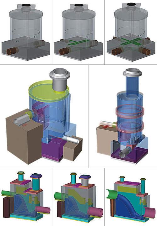 Основные виды типовых конструкций канализационных камер