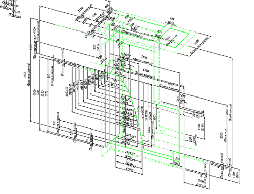 Набор теоретических эскизов для одного из видов конструкций