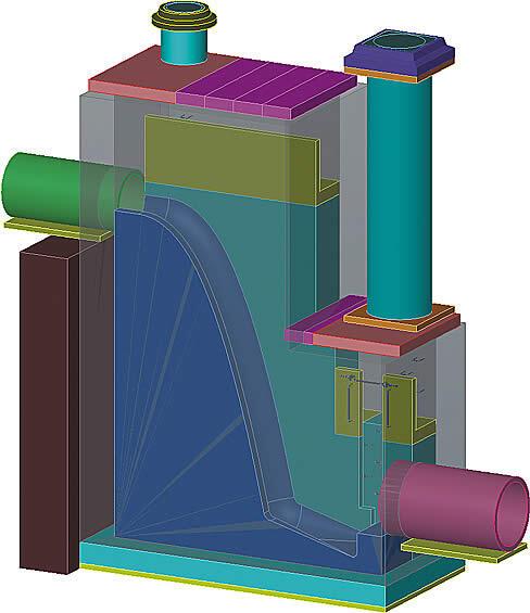 Сборочная твердотельная модель, созданная на основе теоретических эскизов