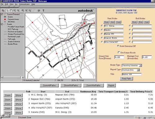 Рис. 4. ГИС мониторинга транспортной сети