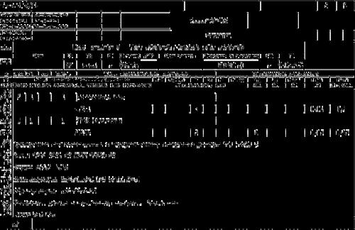 Рис. 2. Техпроцесс с нормами времени. Представление на экране и на бумаге
