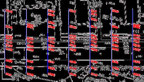 Перед началом работы над планом трассы в основной чертеж была подключена геоподоснова