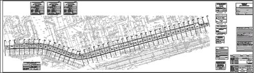 Результатом работы на этом этапе стал чертеж плана трассы