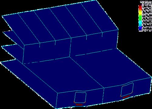 Рис. 6. Область развития пластических деформаций