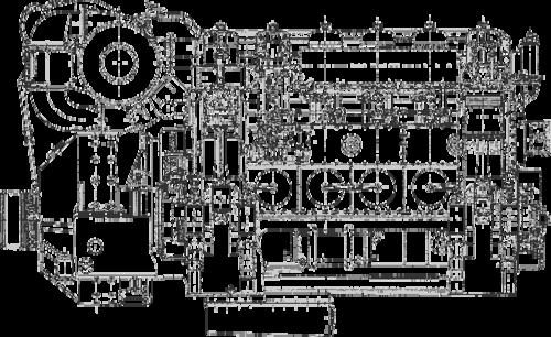 Рис. 1. Силовая установка тепловоза ЧМЭ-3