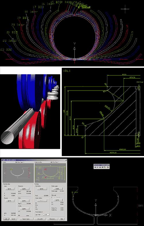 COPRA Rollform обеспечивает проектирование и оптимизацию холодного проката круглых и квадратных труб, калибровку труб специальных сечений из круглых или квадратных, холодное редуцирование труб, автоматическое и полуавтоматическое проектирование роликовой оснастки, автоматическую генерацию чертежей и спецификаций, расчет массы роликов и их черновых диаметров
