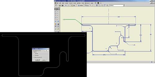 Контур профиля может разрабатываться в AutoCAD или других САПР - например, в Autodesk Inventor