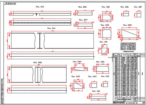 Рис. 4 Даже для деталей и сборочных единиц (отправочных марок) самых сложных конфигураций чертежи и спецификации создаются одним нажатием кнопки