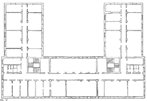 Рис. 4. Растровое изображение поэтажного плана после обработки в RasterDesk