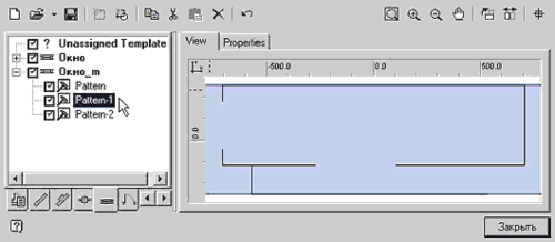 Рис. 7б. Графический образец для распознавания одного объекта