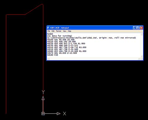 Аналогичным образом получается пакет DXF-файлов и ISO-кодов, описывающих контуры для изготовления роликов методом точения или фрезерования