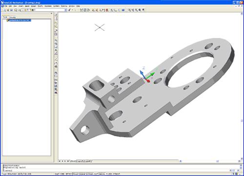 Специальная опция версий DX, получившая название Companion, позволяет создавать в среде AutoCAD Mechanical или Mechanical Desktop чертежи, ассоциативные моделям деталей Inventor (*.ipt)