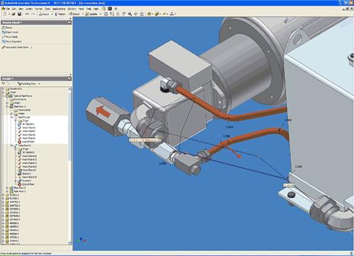 Специальный режим прокладки трассы трубопровода включает инструментарий для создания и редактирования осевой линии будущей трубы