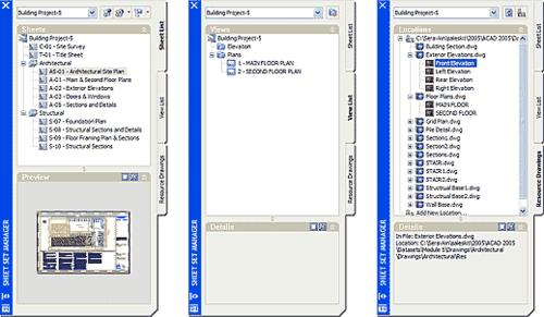 Менеджер комплектов листов предлагает удобный способ организовать информацию о проекте, содержащуюся в листах комплекта документации