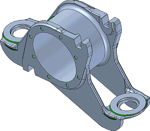 Рис. 5. Модель корпуса буксы
