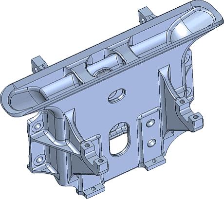Рис. 6. Модель кронштейна