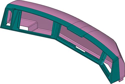 Рис. 11. Сборочная модель приборной панели пульта машиниста
