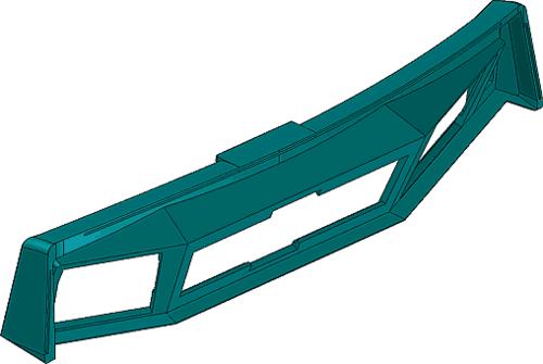 Рис. 12. Модель панели пульта машиниста (вид сзади)