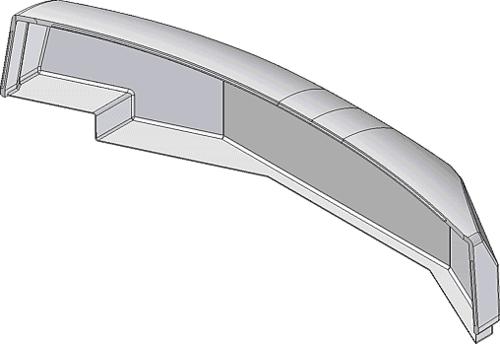 Рис. 13. Модель крышки закрытия для приборной панели пульта машиниста