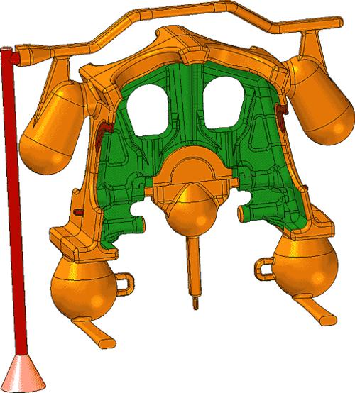 Рис. 29. Модель литниково-питательной системы