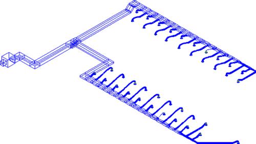 Рис. 2. Вытяжная система второго этажа