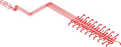 Рис. 3. Приточная система второго этажа