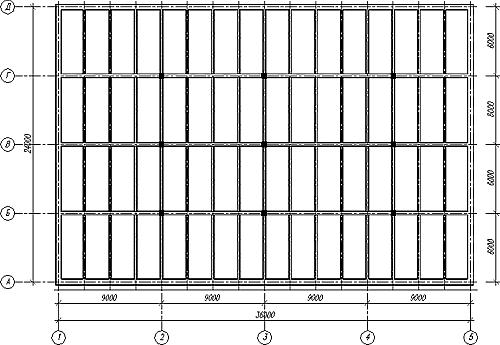Рис. 8. Конструктивная схема монолитного ребристого перекрытия