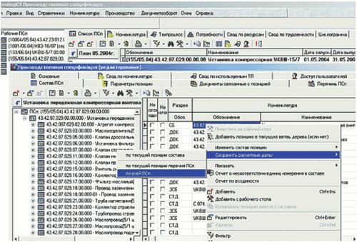 Рис. 12. Сохранение расчетных дат изготовления по результатам проработки циклограммы