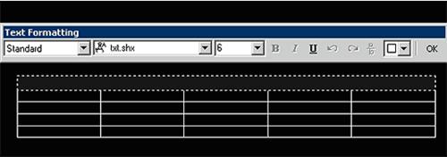 Рис. 31. Результат вставки таблицы