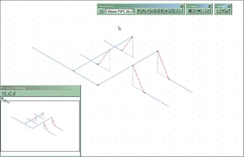 Рис. 9. Общая конфигурация трубопровода