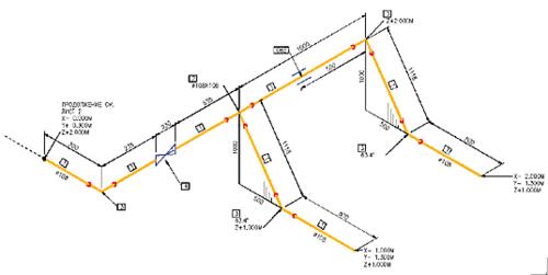 Рис. 21. Изометрический чертеж, автоматически выполненный по эскизу