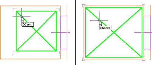 Рис. 16 (иллюстрация справа). Объект до масштабирования; Рис. 17 (иллюстрация справа). Объект после непропорционального «вписывания» в заданное пространство