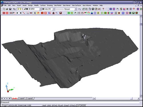 Рис. 4. Модуль для представления промерных данных в виде поверхности