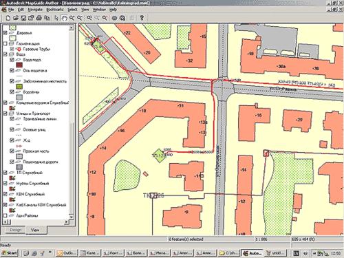 Разработка и просмотр карты с помощью инструментария Autodesk MapGuide Author