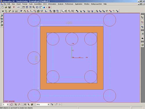 Рис. 1. Пример обработки детали с применением 2D-коррекции