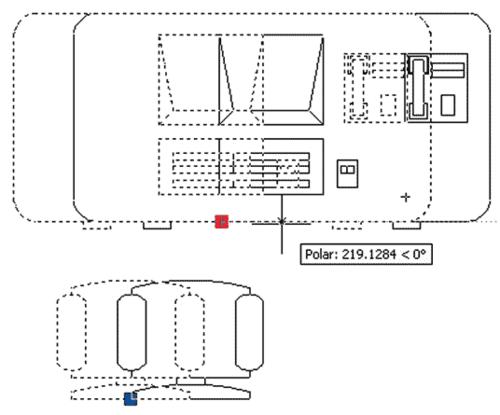 Рис. 3. Целостность блока сохраняется (перемещение по стандартной точке вставки)