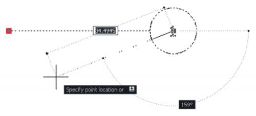 Рис. 8. Растяжение блока посредством активного параметра (настройка длины и поворота полки выноски)