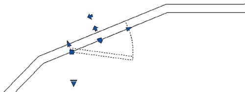 Рис. 16. Зеркальное отражение блока при помощи активации параметра