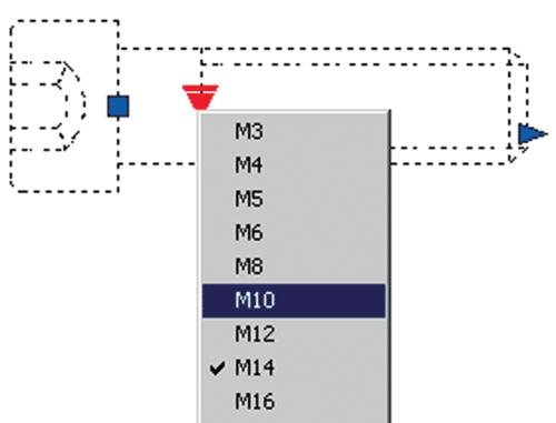 Рис. 18. Выбор варианта реализации блока из раскрывающегося списка Lookup