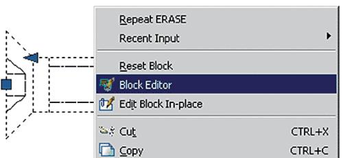 Рис. 31. Запуск Редактора блоков для выбранного обычного блока