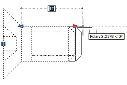 Рис. 35. Динамическое растягивание блока с инкрементными значениями длины