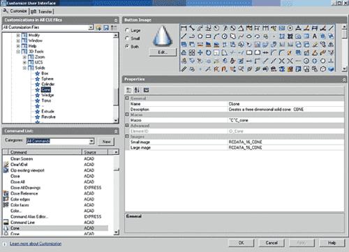 Рис. 40. Процесс создания пункта главного меню. Как и в предыдущем случае, источником команд может служить список Command List или уже существующие пункты