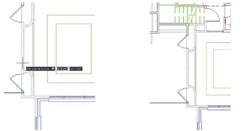 Рис. 33. При указании внутренней точки частично видимой области (слева) ошибки не возникает и область выделяется корректно (справа)