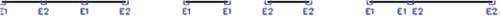 Рис. 37. Объединение отрезков с перекрытием, с зазором или с общей точкой
