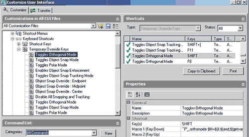 Рис. 39. Раздел Temporary Override Keys предназначен для настройки переключателей режимов